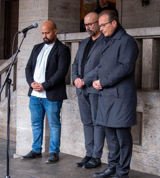 Solidaritätsveranstaltung wegen der Attentate in Halle an der Saale